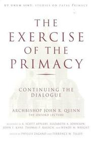 Cover of: The exercise of the primacy
