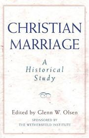 Cover of: Christian marriage |
