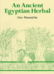 Cover of: An Ancient Egyptian Herbal | Lise Manniche
