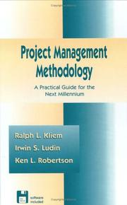 Cover of: Project management methodology