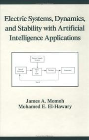 Cover of: Electric systems, dynamics, and stability with artificial intelligence applications