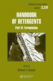 Cover of: Handbook of Detergents, Part D | Michael Showell