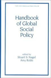 Cover of: Handbook of Global Social Policy (Public Administration and Public Policy)