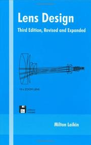 Cover of: Lens Design, Third Edition, (Optical Engineering)