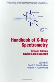 Cover of: Handbook of X-ray spectrometry |