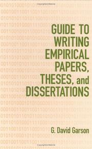 Cover of: Guide to Writing Empirical Papers, Theses, and Dissertations | G. David Garson