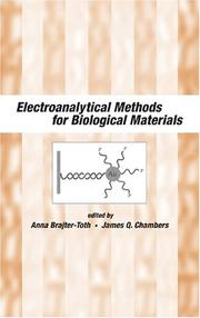 Cover of: Electroanalytical methods for biological materials |