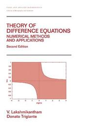 Cover of: Theory of difference equations