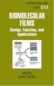 Cover of: Biomolecular Films