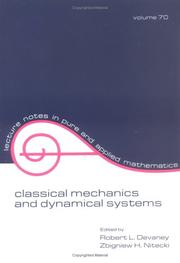 Cover of: Classical mechanics and dynamical systems |