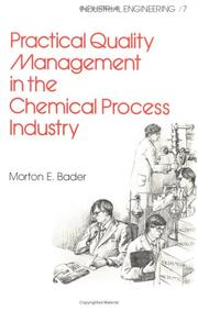 Cover of: Practical quality management in the chemical process industry