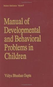 Cover of: Manual of developmental and behavioral problems in children