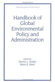 Cover of: Handbook of Global Environmental Policy and Administration (Public Administration and Public Policy) |