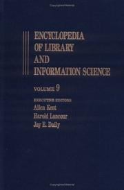 Cover of: Encyclopedia of Library and Information Science (Encyclopedia of Library & Information Science) | Allen Kent