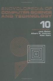 Cover of: Encyclopedia of Computer Science and Technology | Jack Belzer