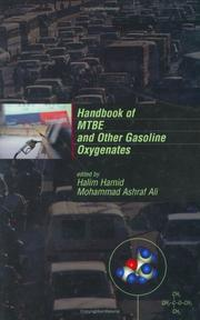 Cover of: Handbook of MTBE and other gasoline oxygenates |