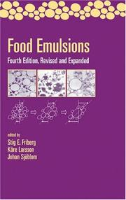 Cover of: Food emulsions. |