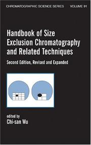 Cover of: Handbook of size exclusion chromatography and related techniques |