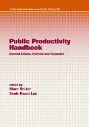 Cover of: Public productivity handbook