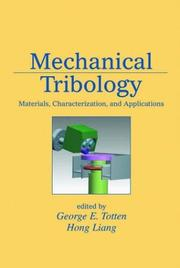 Cover of: Mechanical tribology