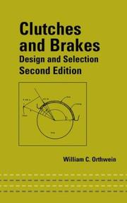 Clutches and brakes by William C. Orthwein