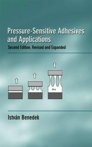 Cover of: Pressure-sensitive adhesives and applications