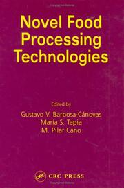 Cover of: Novel food processing technologies by