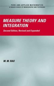 Cover of: Measure theory and integration
