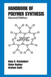 Cover of: Handbook of Polymer Synthesis |