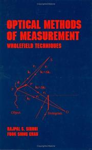 Cover of: Optical methods of measurement
