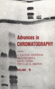 Cover of: Advances in Chromatography, Vol. 15 (Advances in Chromatography)