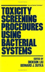 Cover of: Toxicity screening procedures using bacterial systems |
