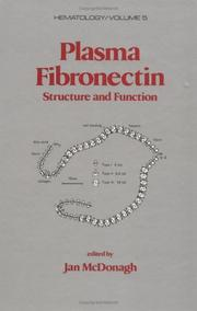 Cover of: Plasma fibronectin |