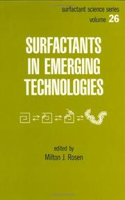 Cover of: Surfactants in emerging technologies |