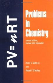 Cover of: Problems in chemistry | Henry O. Daley