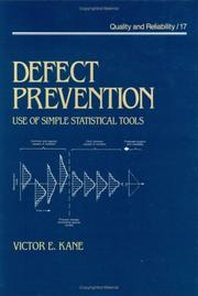 Cover of: Defect prevention | Victor E. Kane