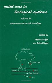Cover of: Aluminum and its role in biology |