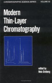 Cover of: Modern thin-layer chromatography |