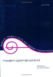 Cover of: Modern optimal control |