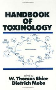 Cover of: Handbook of toxinology |