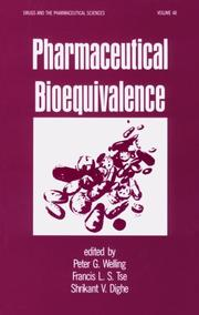 Cover of: Pharmaceutical bioequivalence |