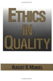 Cover of: Ethics in quality