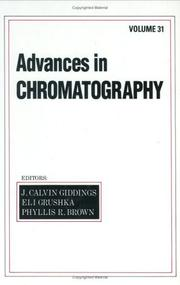 Cover of: Advances in Chromatography, Vol. 31 (Advances in Chromatography)