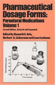 Cover of: Pharmaceutical Dosage Forms |