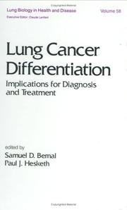 Cover of: Lung cancer differentiation |
