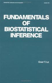 Cover of: Fundamentals of biostatistical inference
