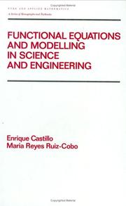Cover of: Functional equations and modelling in science and engineering