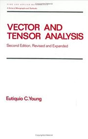 Cover of: Vector and tensor analysis | Eutiquio C. Young