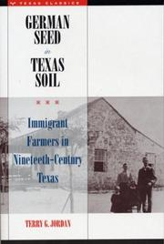German Seed in Texas Soil by Terry G. Jordan