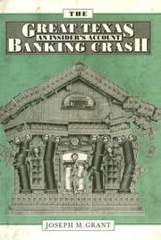 Cover of: The great Texas banking crash